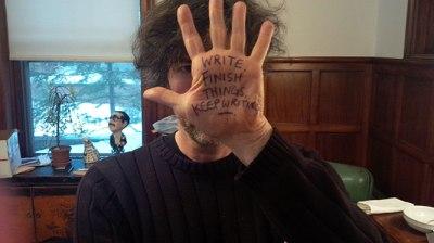 Neil Gaiman Hand