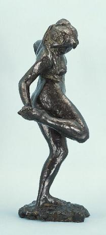 """Dancer Looking at the Sole of her Right Foot,"" sculpture by Edgar Degas"