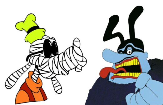 Invisible Goofy and Blue Meanie