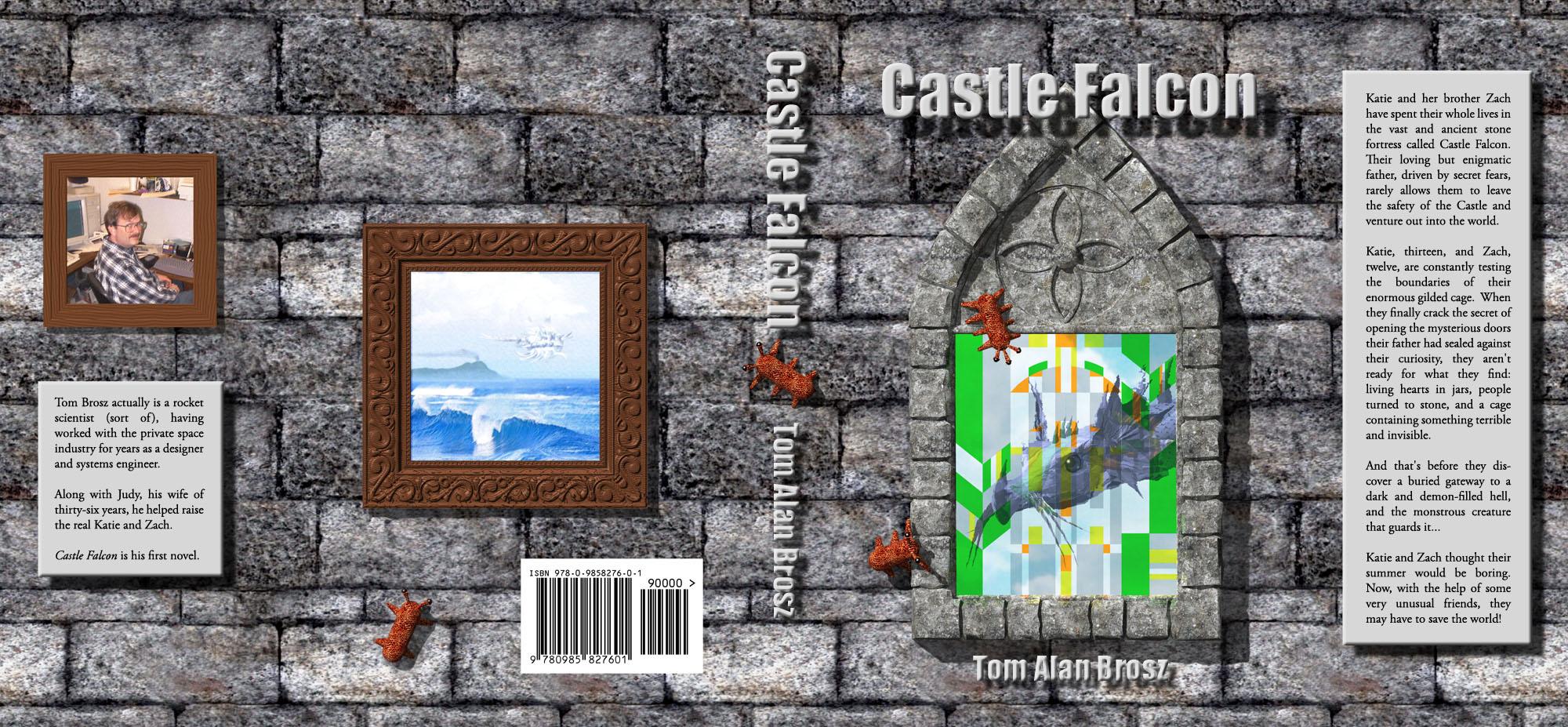 Castle Falcon Cover, dust jacket by Tom Alan Brosz