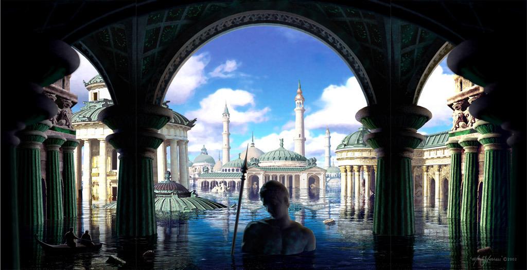 Last Light on Atlantis by Mark Ferrari